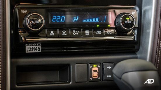 toyota fortuner road test climate control interior