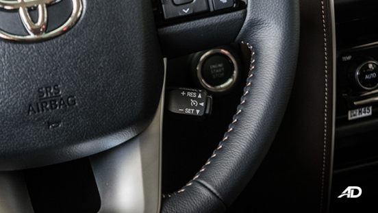 toyota fortuner road test cruise control interior