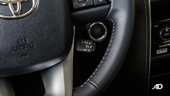 toyota fortuner road test cruise control interior