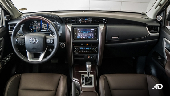 toyota fortuner road test dashboard interior philippines