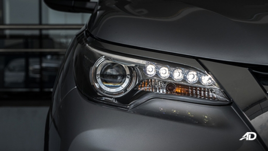 toyota fortuner road test LED headlights exterior philippines