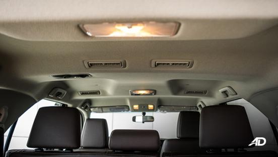 toyota fortuner road test rear cabin interior
