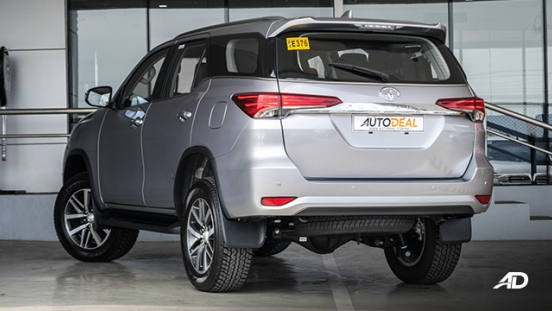 toyota fortuner road test rear quarter exterior philippines