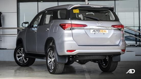 toyota fortuner road test rear quarter exterior philippines