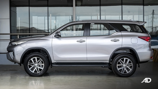 toyota fortuner road test side exterior philippines