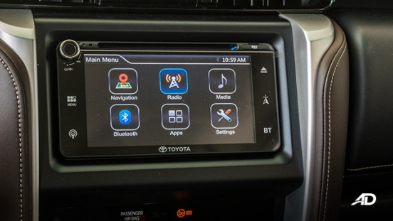toyota fortuner road test touchscreen interior philippines