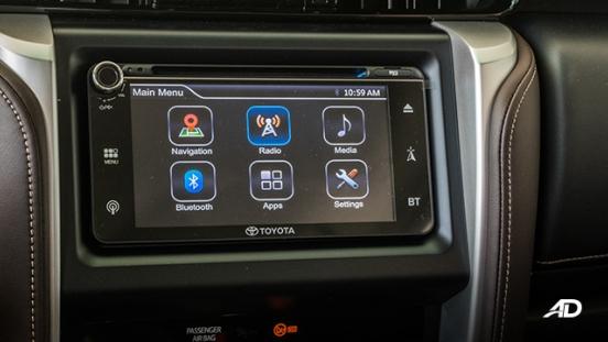 toyota fortuner road test touchscreen interior philippines