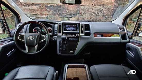 toyota hiace super grandia review road test dashboard interior philippines
