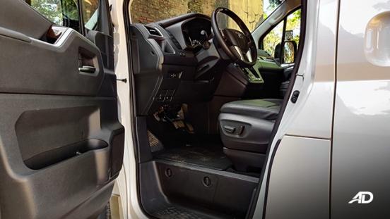 toyota hiace super grandia review road test front legroom interior