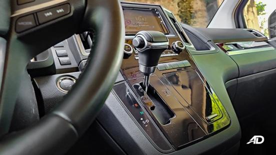 toyota hiace super grandia review road test gear lever interior