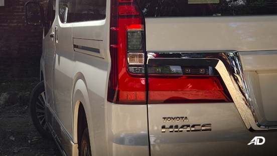 toyota hiace super grandia review road test led taillights exterior