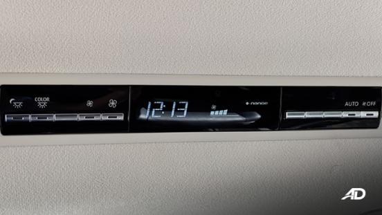 toyota hiace super grandia review road test rear cabin aircon interior