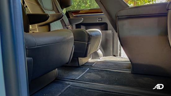 toyota hiace super grandia review road test rear cabin legroom interior