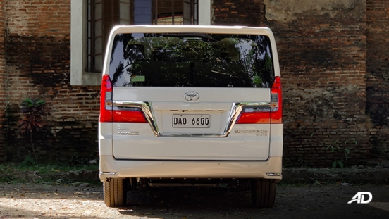 toyota hiace super grandia review road test rear exterior