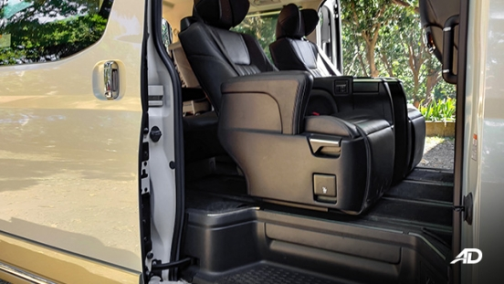 toyota hiace super grandia review road test second row captains chairs interior
