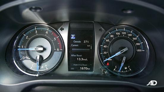 Toyota HIlux Conquest road test gauge cluster