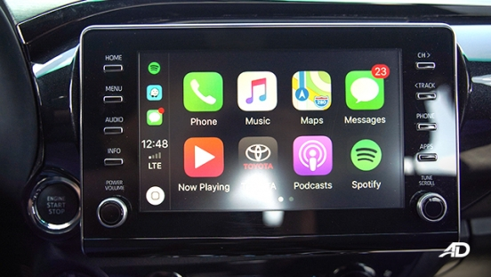 Toyota HIlux Conquest road test infotainment system