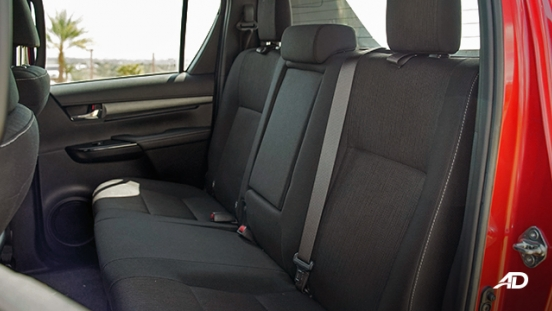 Toyota HIlux Conquest road test rear seats