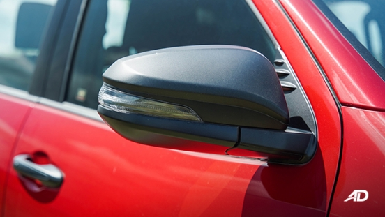 Toyota HIlux Conquest road test side mirror