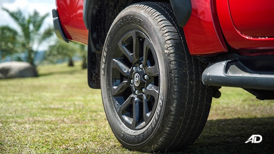 Toyota HIlux Conquest road test wheels