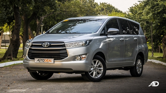 toyota innova road test review front quarter exterior