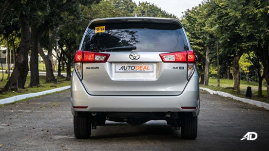 toyota innova road test review rear exterior philippines