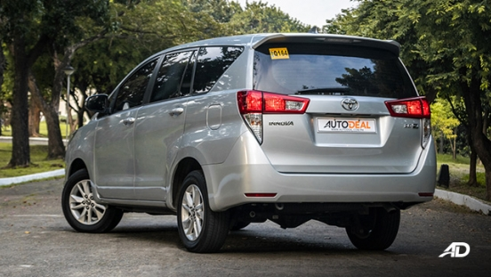 toyota innova road test review rear quarter exterior philippines