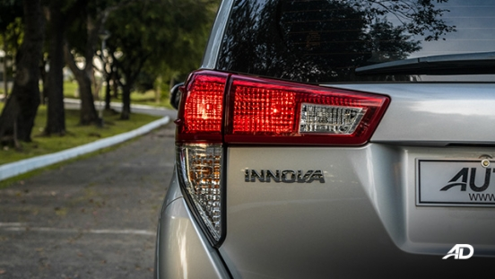 toyota innova road test review taillights exterior