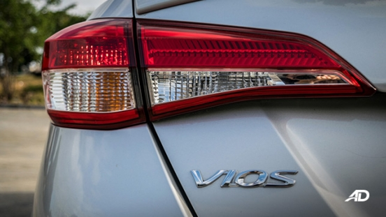 Toyota Vios 1.3 E Prime road test exterior taillights