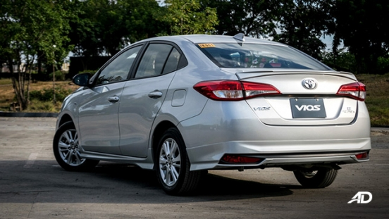 Toyota Vios 1.3 E Prime road test rear quarter exterior