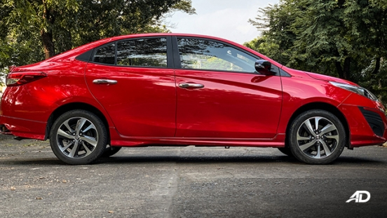 toyota vios 1.5 g prime road test side exterior