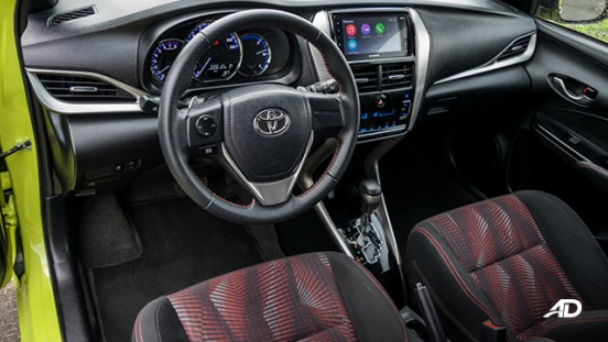 toyota yaris road test review front cabin interior philippines