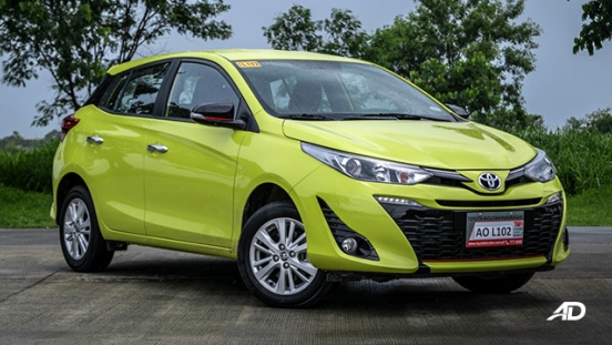 toyota yaris road test review front quarter exterior philippines