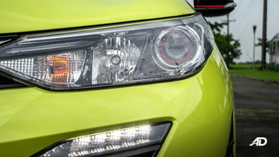 toyota yaris road test review headlights exterior
