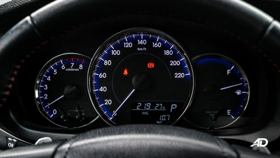 toyota yaris road test review instrument cluster interior philippines
