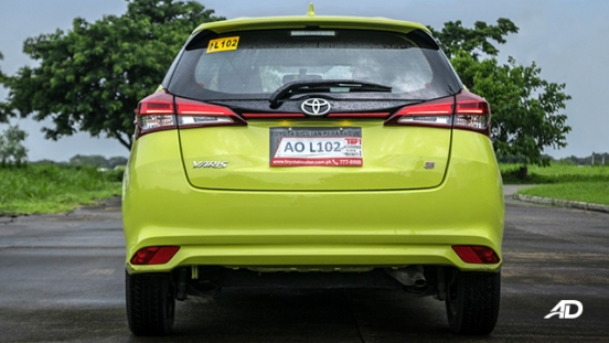 toyota yaris road test review rear exterior