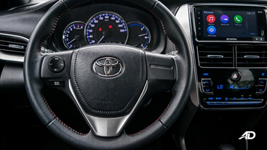 toyota yaris road test review steering wheel interior