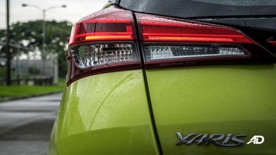 toyota yaris road test review taillights exterior philippines