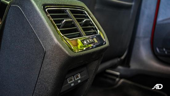 volkswagen lamando review road test rear aircon interior