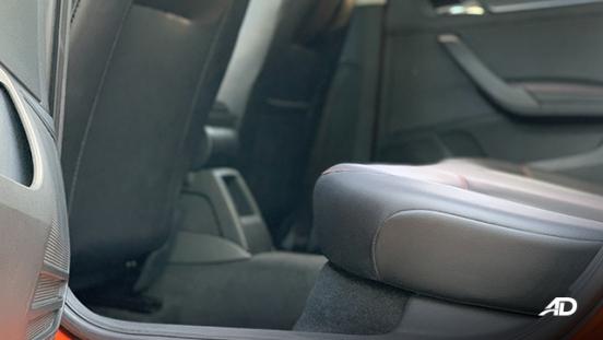 volkswagen santana GTS road test review rear seats legroom interior
