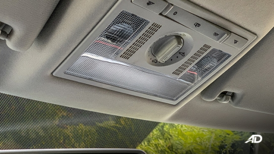 volkswagen santana GTS road test review sunroof controls interior