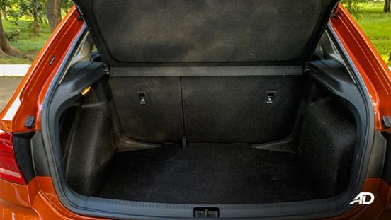 volkswagen santana GTS road test review trunk cargo interior
