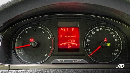 volkswagen santana road test gauge cluster