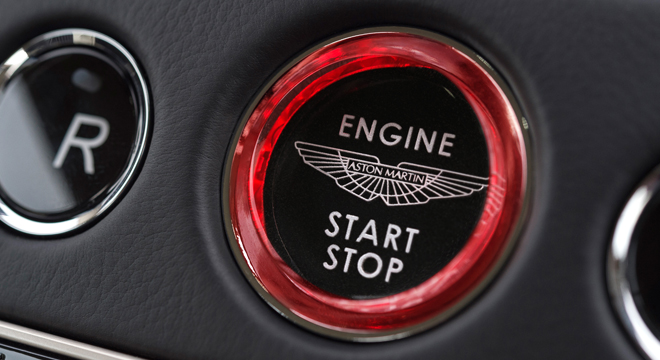 2018 Aston Martin DB11 Coupe Push Start Button