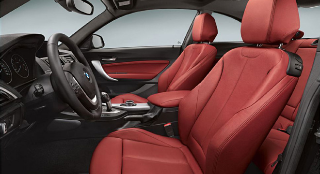 2018 BMW 2-Series coupe interior