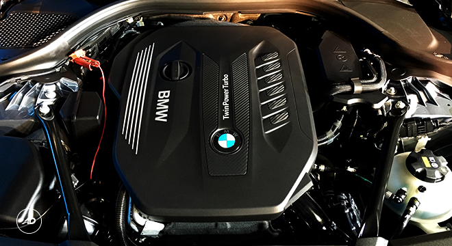 2018 BMW 5-Series Sedan engine