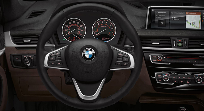 2018 BMW X1 steering wheel
