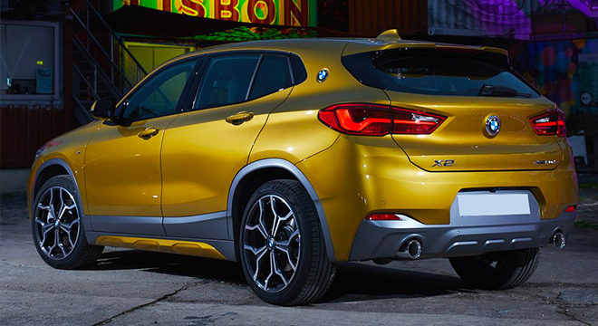 2018 bmw x2 rear quarter