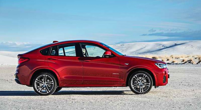 2018 BMW X4 sideview