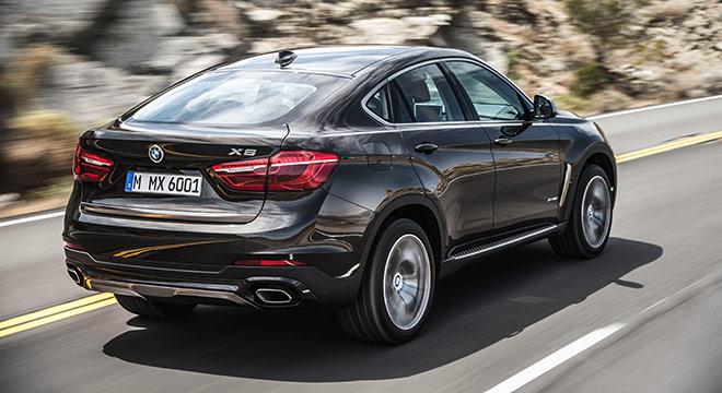 2018 BMW X6 rear